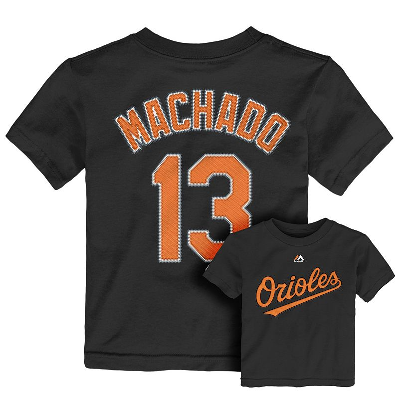 Toddler Majestic Baltimore Orioles Manny Machado Player Name and Number Tee