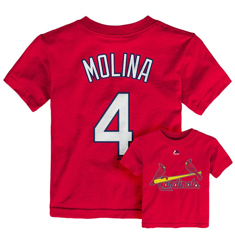 Toddler Majestic St. Louis Cardinals Yadier Molina Player Name and Number Tee