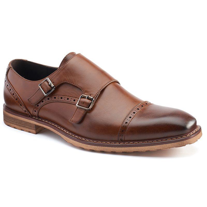 Van Heusen Martin Men's Monk Strap Cap Toe Dress Shoes