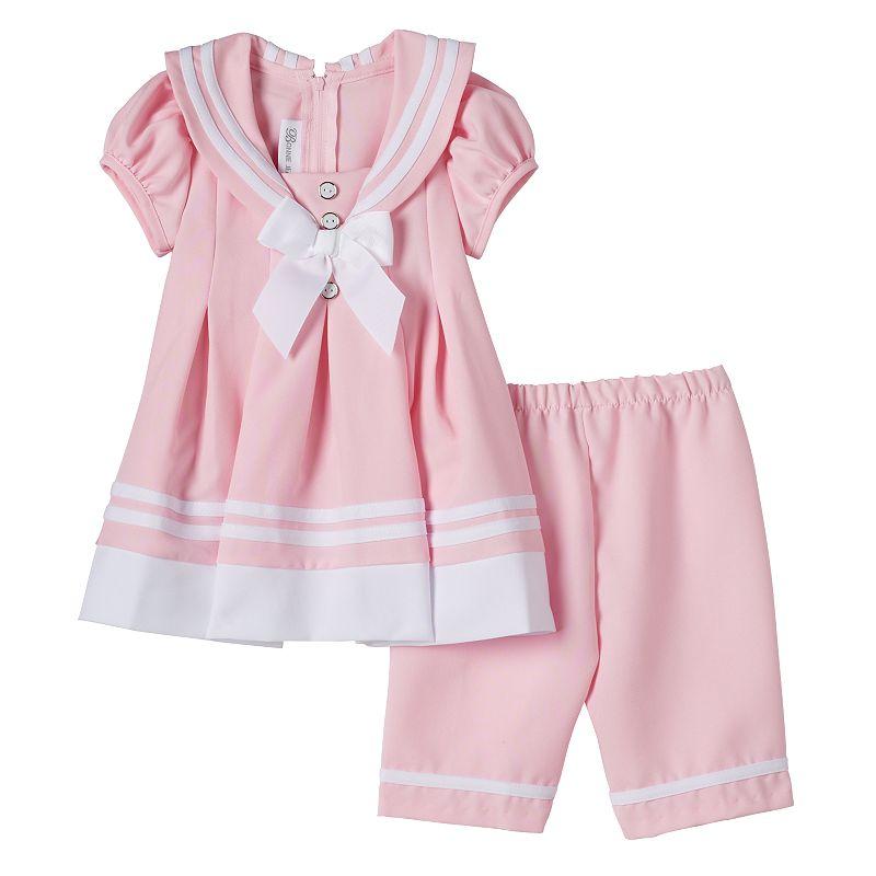 Baby Girl Bonnie Jean Sailor Top & Capris Set
