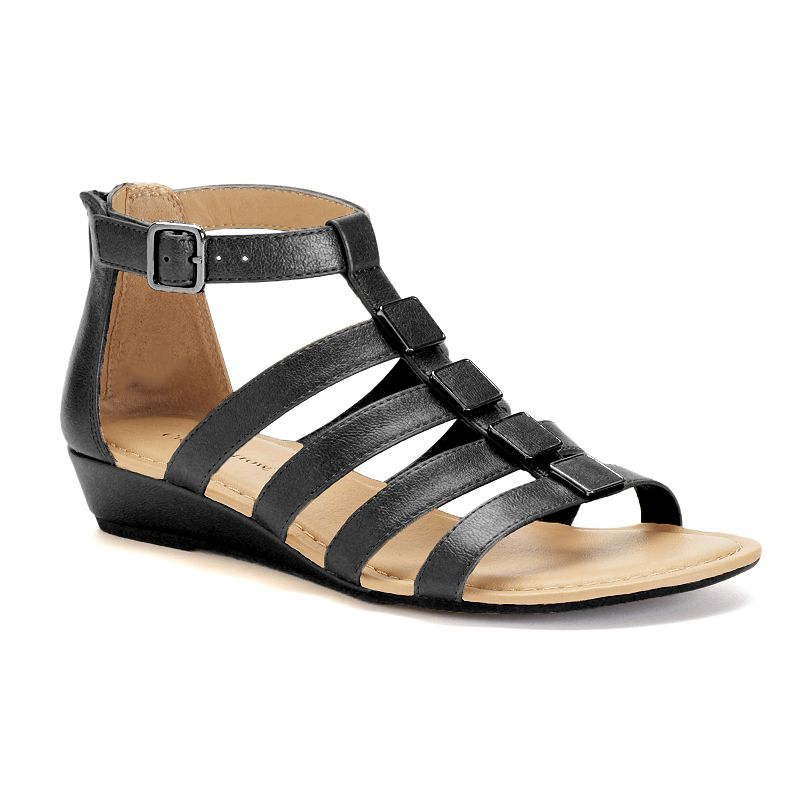 Croft & Barrow® Women's Wedge Gladiator Sandals