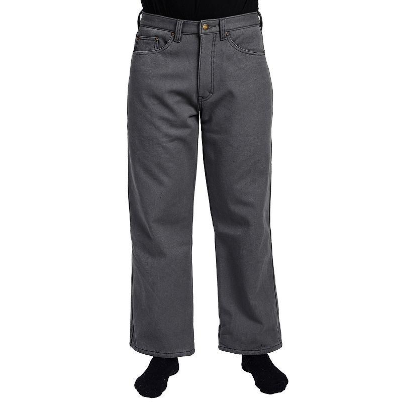 Men's Stanley Classic-Fit Fleece-Lined Canvas Jeans