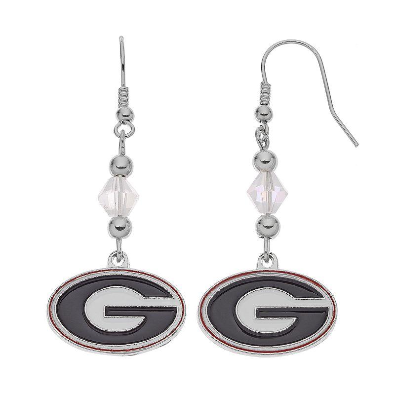 Georgia Bulldogs Team Logo Beaded Drop Earrings