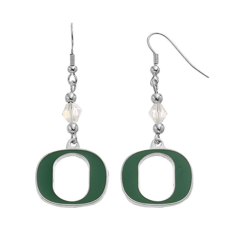 Oregon Ducks Team Logo Beaded Drop Earrings