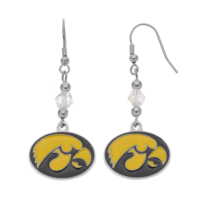 Iowa Hawkeyes Team Logo Beaded Drop Earrings