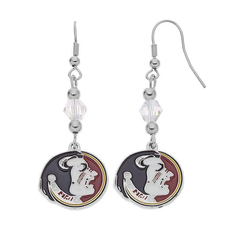 Florida State Seminoles Team Logo Beaded Drop Earrings