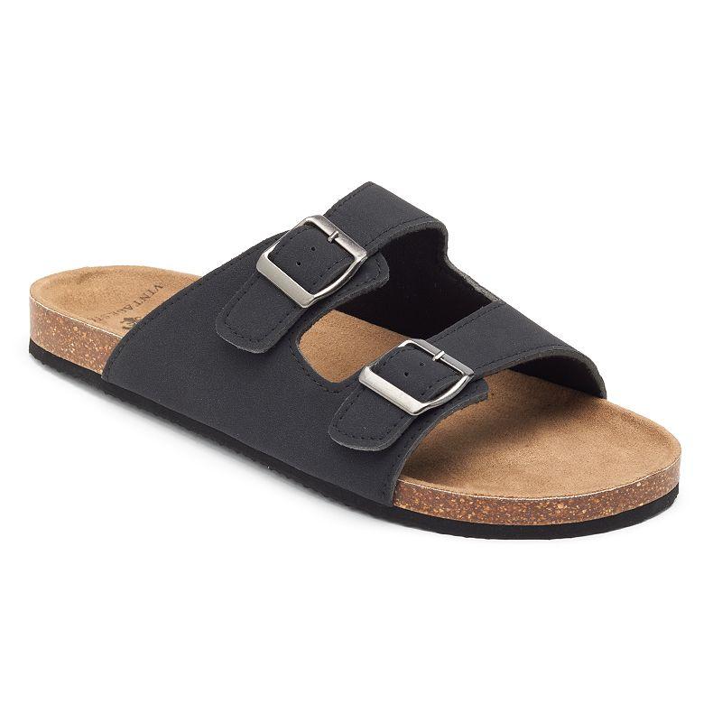 Men's Vintage Stone Double-Buckle Sandals