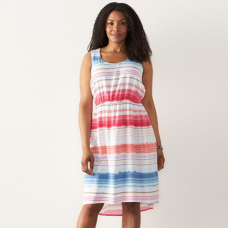 Women's SONOMA Goods for Life™ Striped High-Low Dress