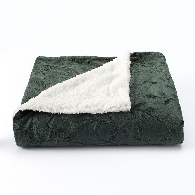 VCNY Camilla Embossed Faux Mink Throw