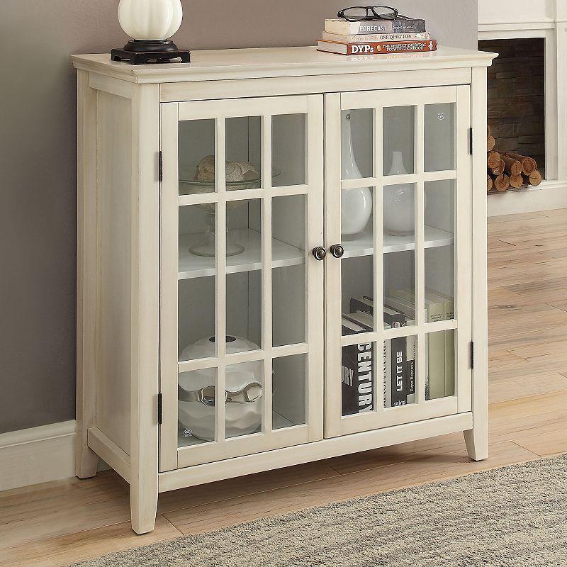 Linon Largo Antique Double Door Cabinet