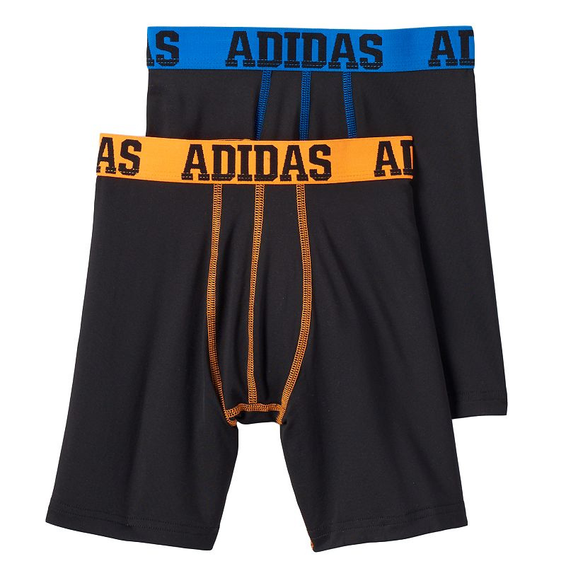 Boys adidas 2-pack Performance Long Boxer Briefs