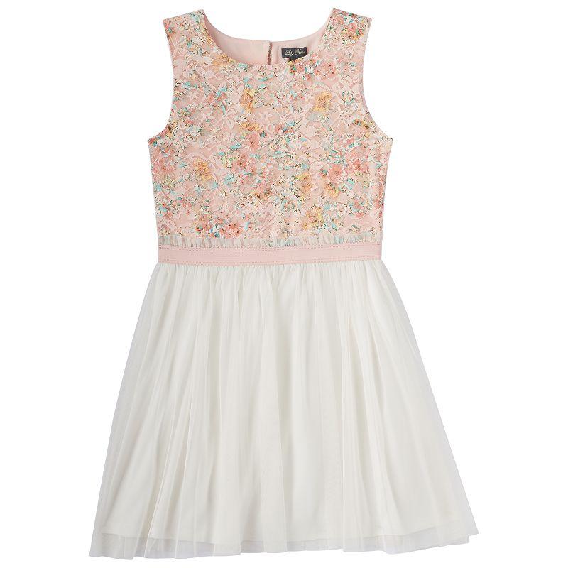 Girls 7-16 Lily Rose Mesh Skater Dress