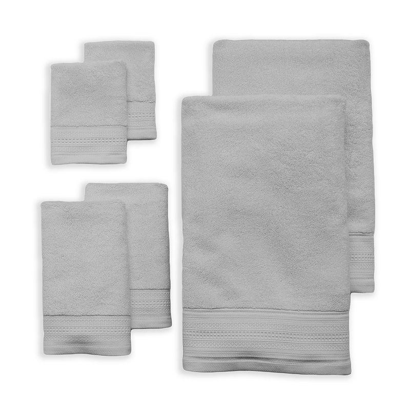 LC Lauren Conrad 6-pack Cosmetic Friendly Solid Bath Towel Set