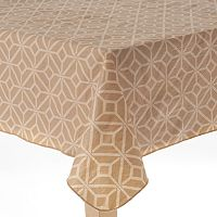 Cuisinart Frames Peva Flannel-Back Tablecloth