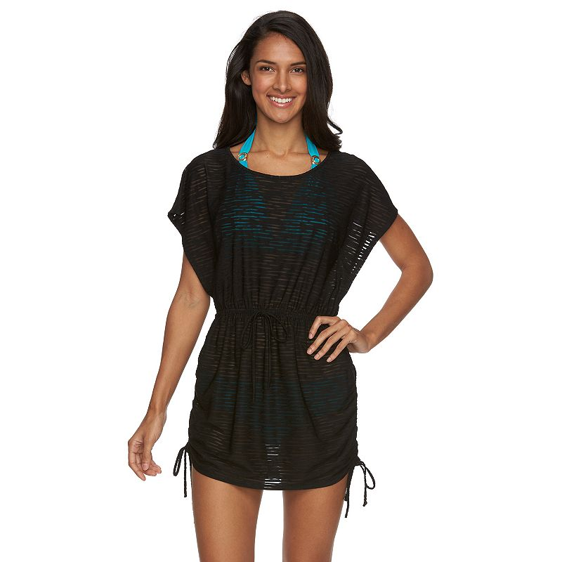Women's Beach Scene Monterey Jacquard Tunic Cover-Up