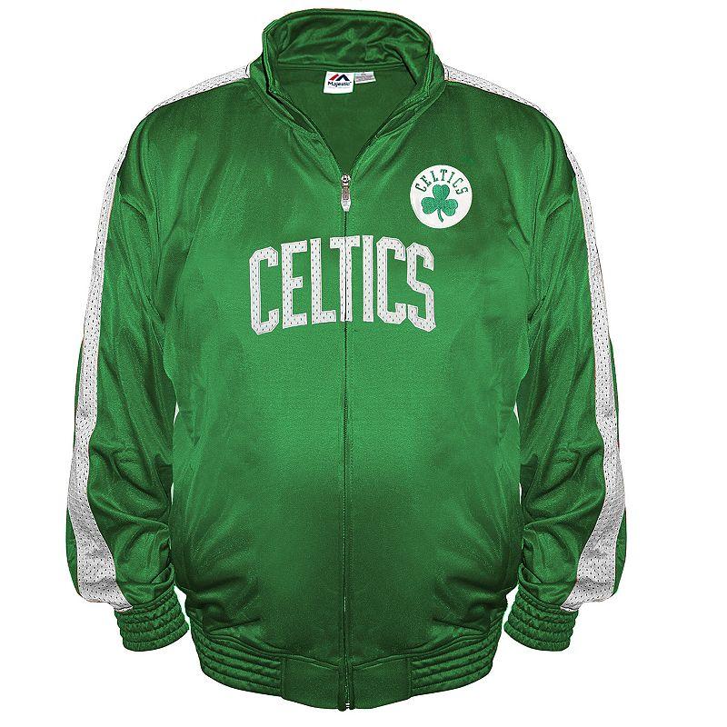 Big & Tall Majestic Boston Celtics Tricot Track Jacket