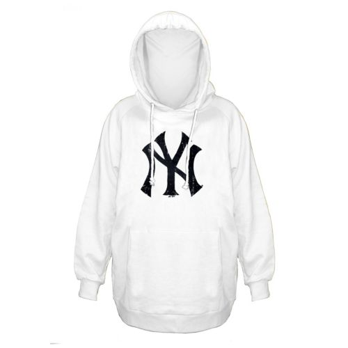 Plus Size Majestic New York Yankees White Hoodie