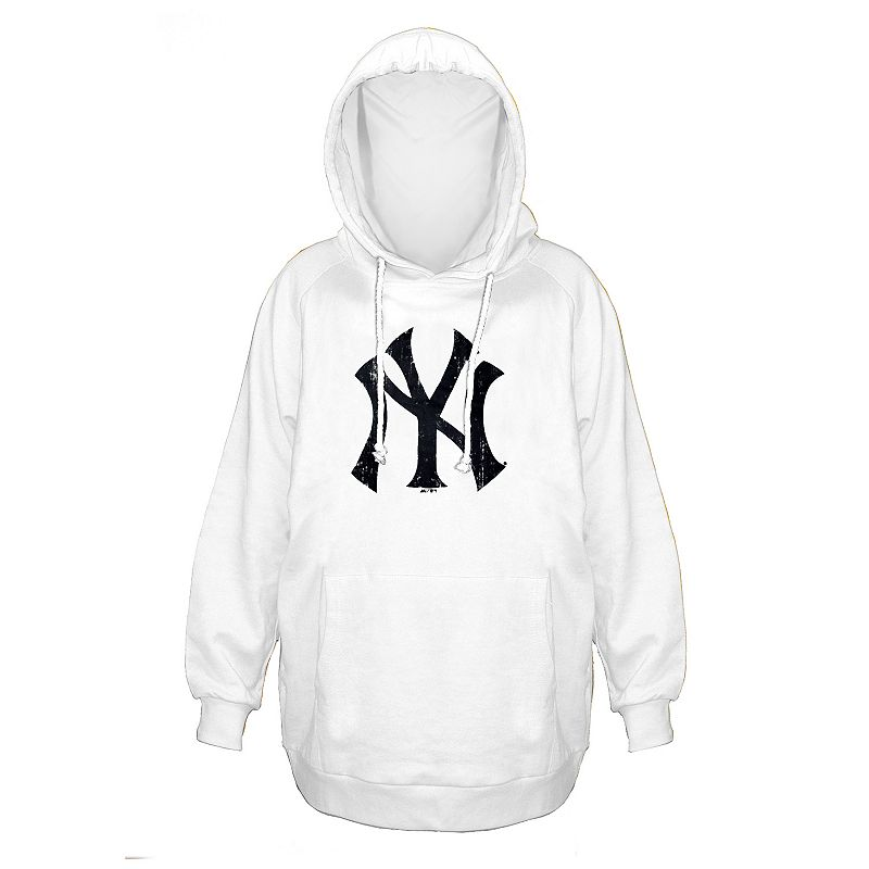Plus Size Majestic New York Yankees White Hoodie