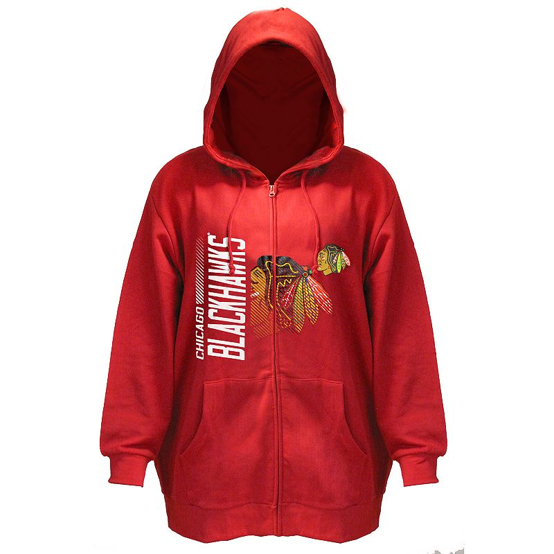 Plus Size Majestic Chicago Blackhawks Full-Zip Hoodie