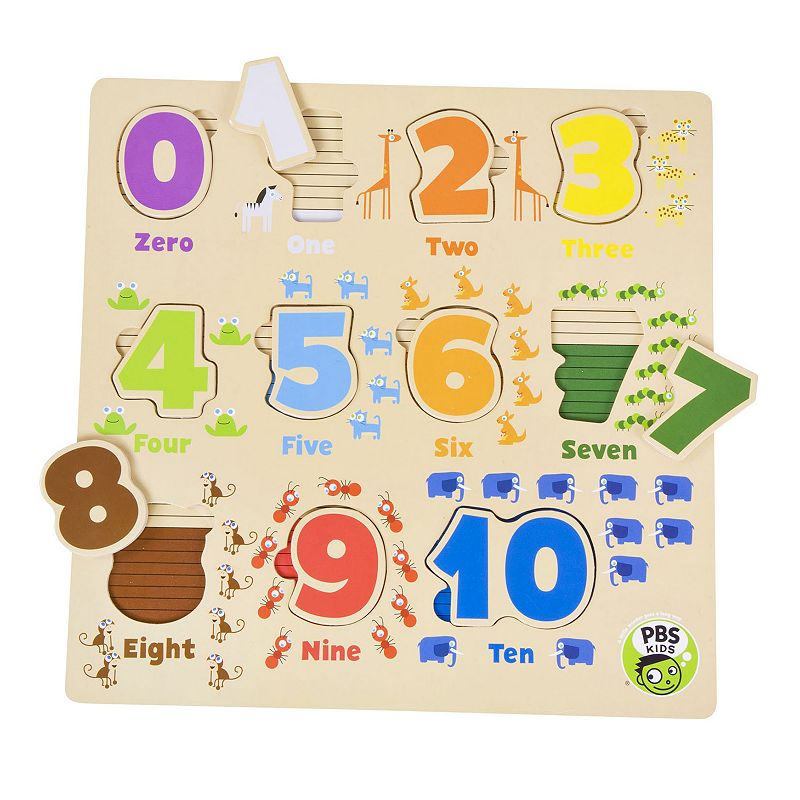 PBS KIDS Wooden Number Puzzle