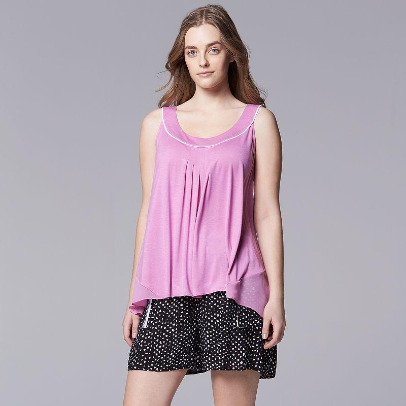 Plus Size Simply Vera Vera Wang Pajamas: Ethereal Beauty Pajama Set