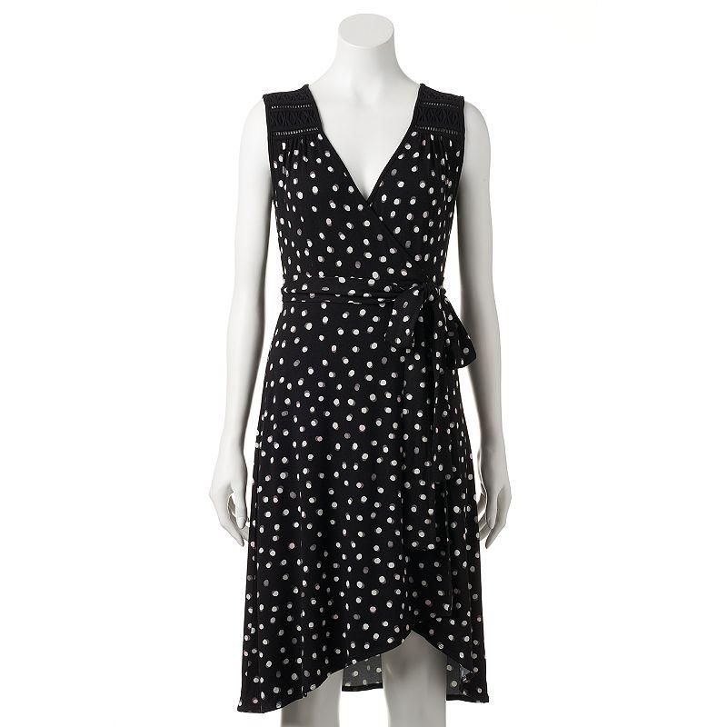 Women's ELLE™ Dot Faux-Wrap Dress