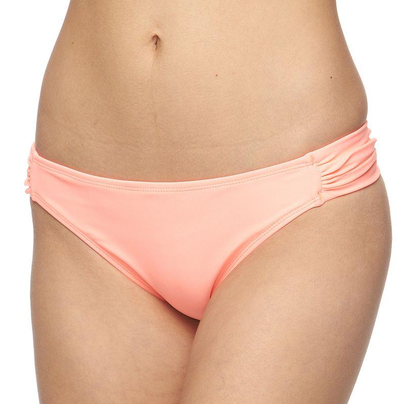 Juniors' In Mocean Shirred Bikini Bottoms