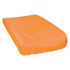 Waverly Baby by Trend Lab Orange Dot Changing Pad Cover