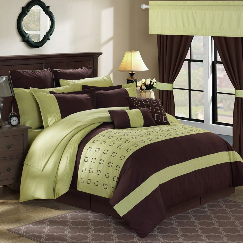 Chic Home Lorde 25-piece Bed Set, Green thumbnail