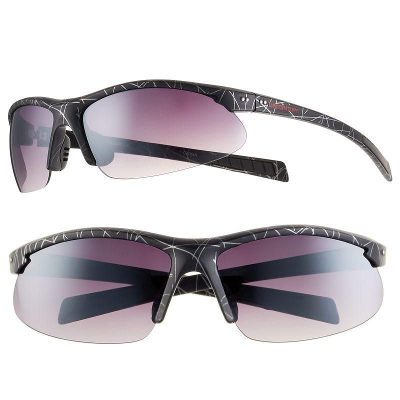Men's Unionbay Semirimless Oval Wrap Sunglasses