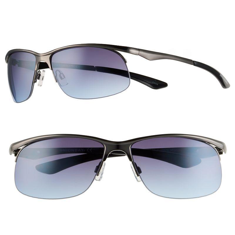 Men's Unionbay Semirimless Oval Sunglasses