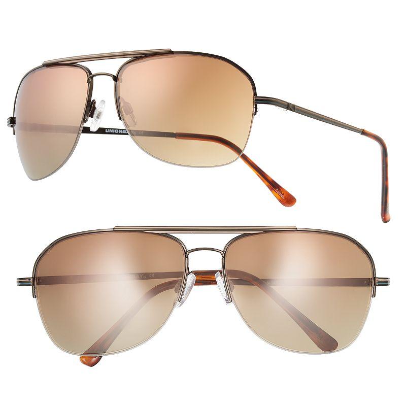 Men's Unionbay Semirimless Aviator Sunglasses