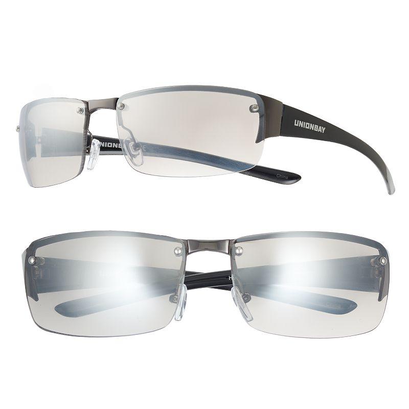 Men's Unionbay Semirimless Wrap Sunglasses