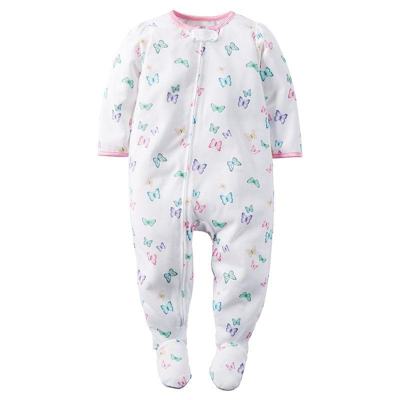 Toddler Girl Carter's Print Footed Pajamas