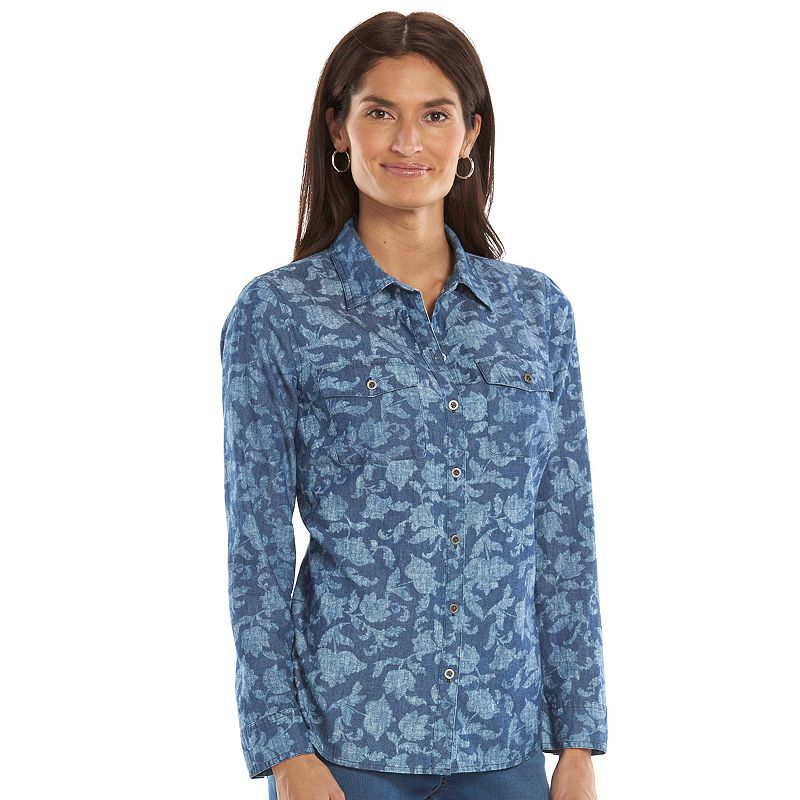 Women's Croft & Barrow® Chambray Shirt
