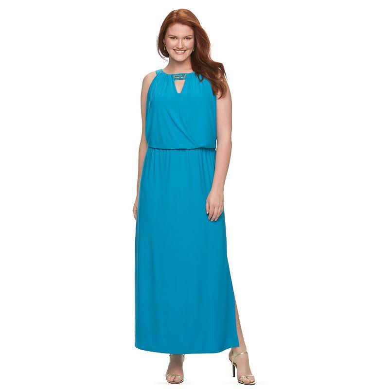 Plus Size Chaps Embellished Maxi Dress