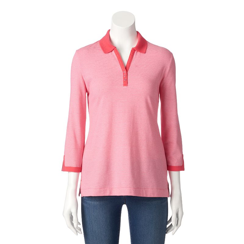 Women's Croft & Barrow® Embellished Polo