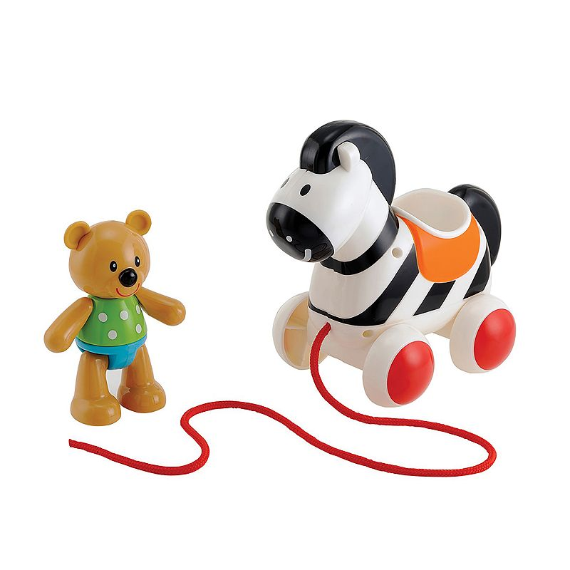 ELC Toybox Ted Bear & Pull-Along Zebra by International Playthings