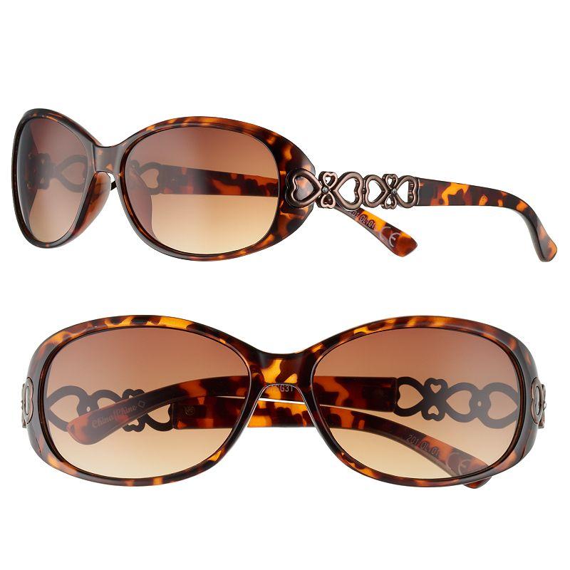 Women's Apt. 9® Heart Cutout Oval Sunglasses