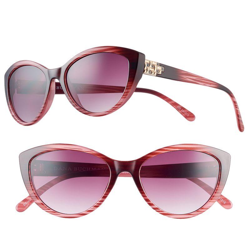 Women's Dana Buchman Rhinestone Geometric Cat's-Eye Sunglasses