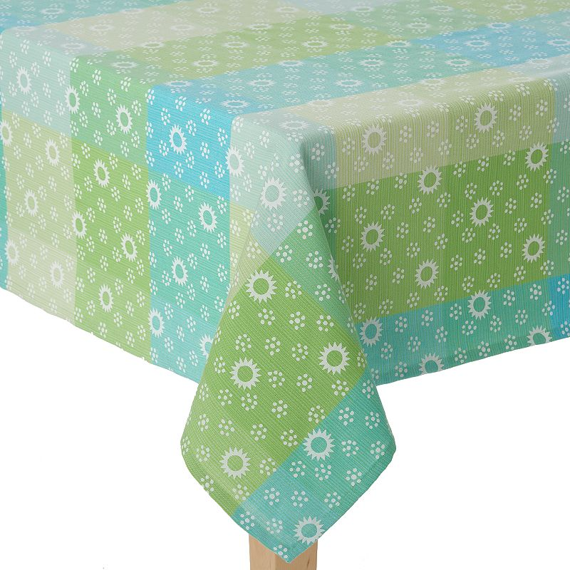 Celebrate Spring Together Dots Plaid Tablecloth