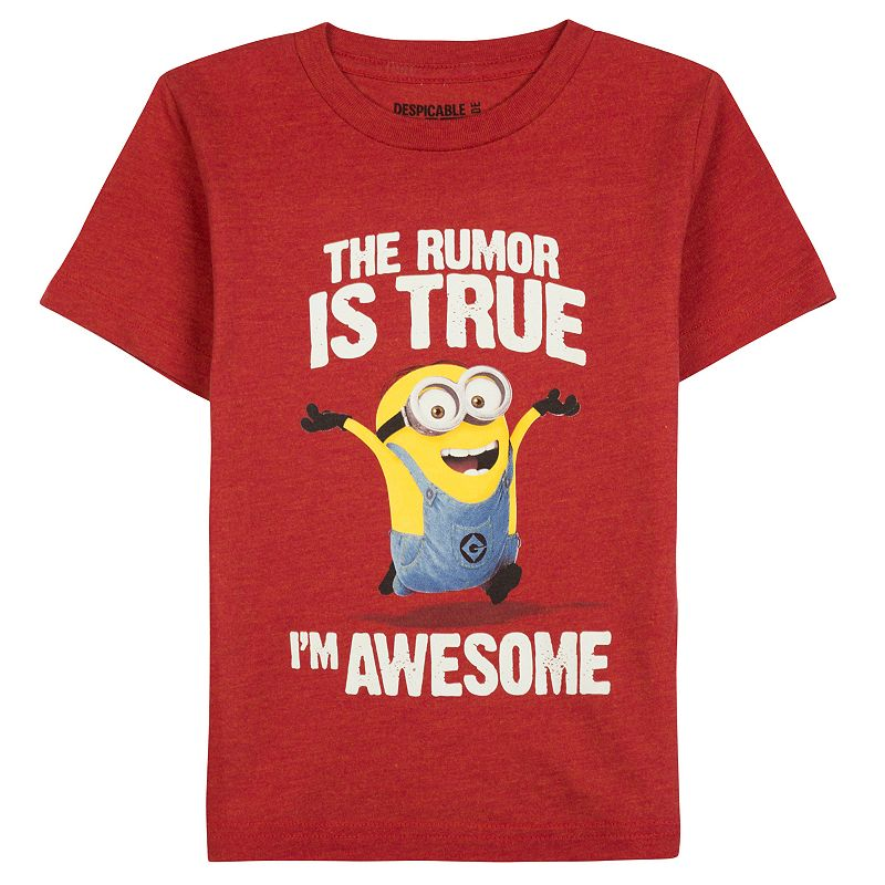 Toddler Boy Red Minions Tee
