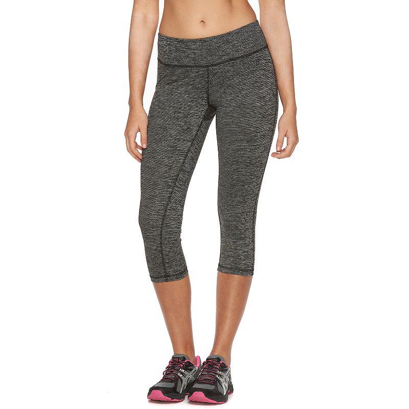 Women's Tek Gear® DRY TEK Space-Dye Capri Workout Leggings