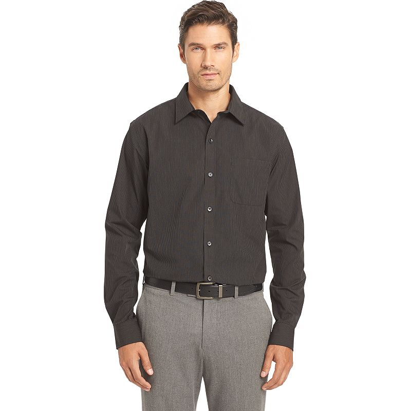 Big & Tall Van Heusen Traveler Classic-Fit No-Iron Button-Down Shirt