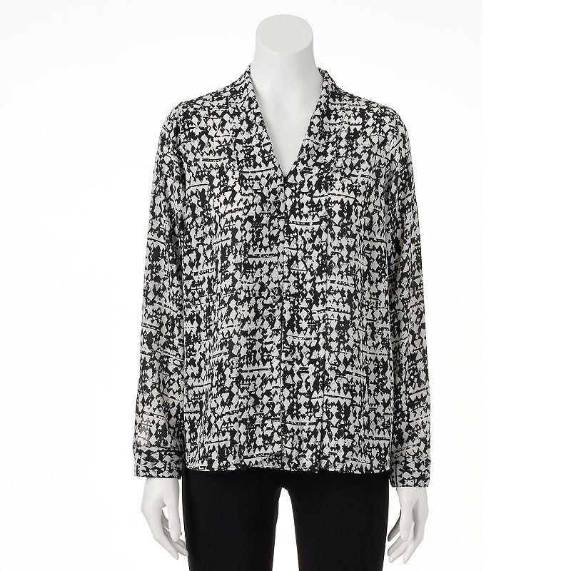 Women's Apt. 9® Tie-Front Chiffon Blouse