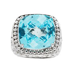 Sterling Silver Blue Topaz Ring by