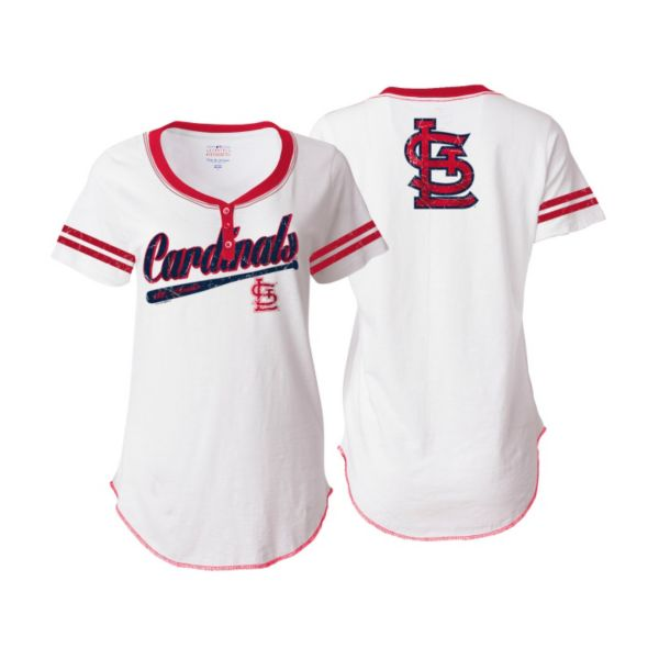 Women's 5th & Ocean St. Louis Cardinals Henley Tee