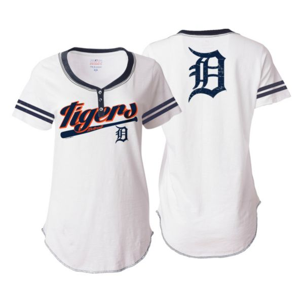 Women's 5th & Ocean Detroit Tigers Henley Tee