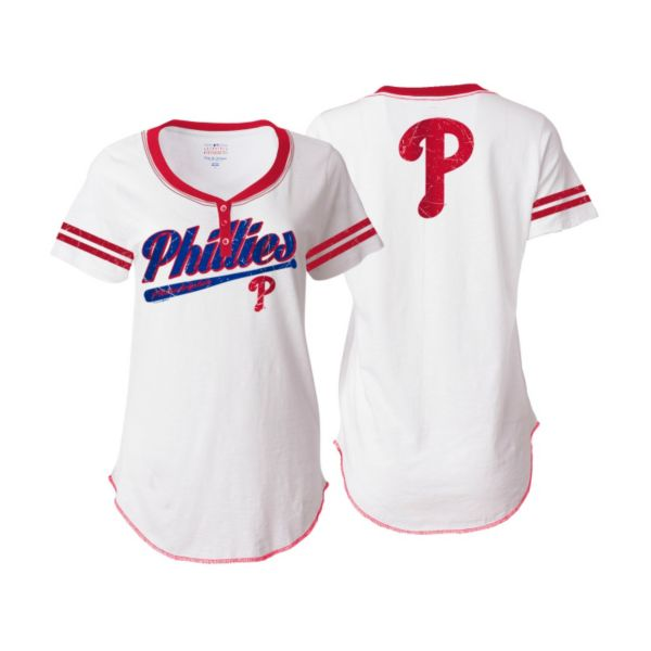 Women's 5th & Ocean Philadelphia Phillies Henley Tee