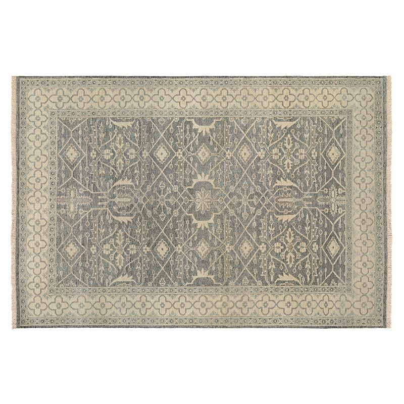 Couristan Tenali Bijnor Framed Ornate Wool Rug